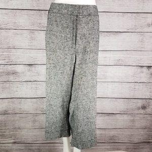 NWT Lane Bryant 28 Cropped Cuffed Linen Pants